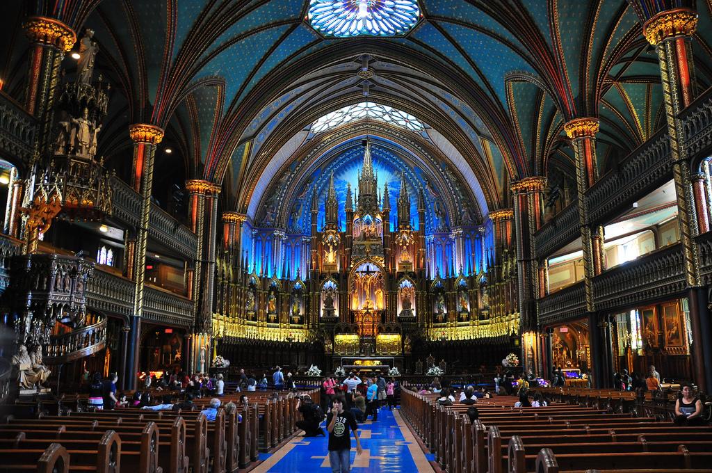 Basilique Notre-Dame de Montréal by abdallahh (Flickr)