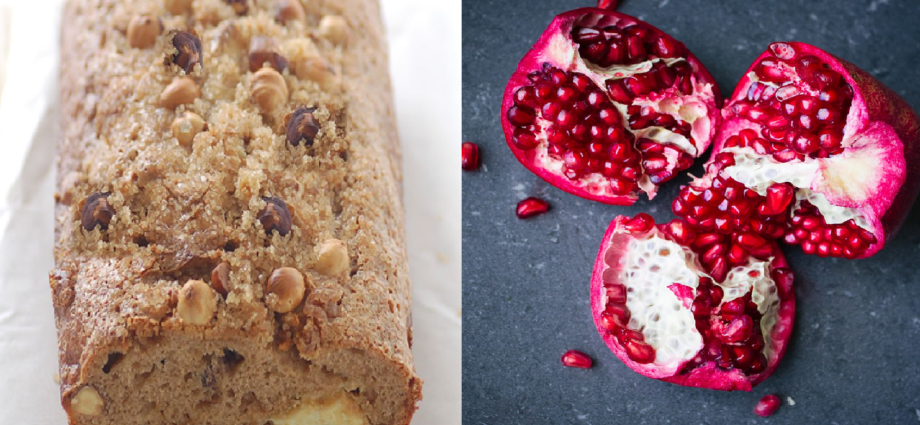 Banana Pomegranate Bread