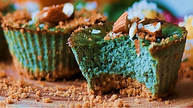 Almond Matcha Cupcakes