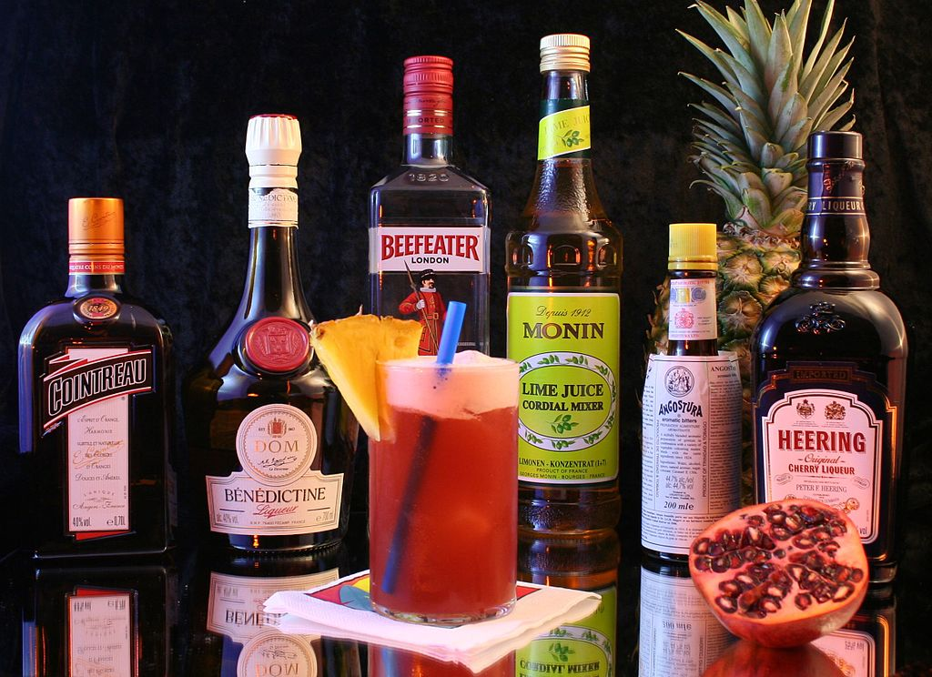 Singapore Sling Ingredients by Achim Schleuning
