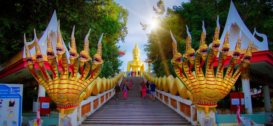 Temple Golden Pattaya Thailand Travel Buddha