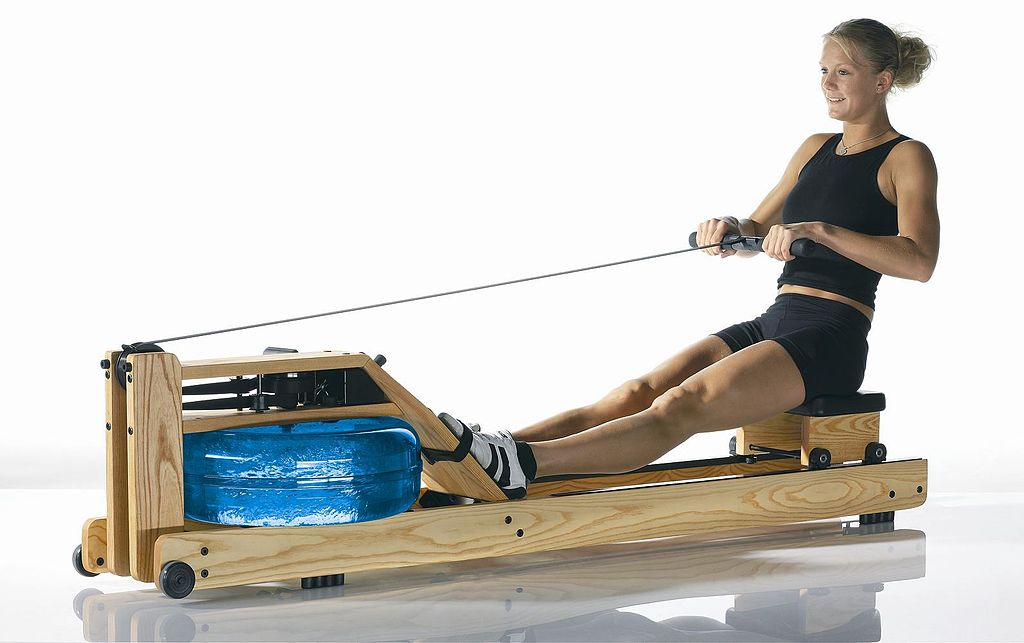 WaterRower Rowing Simulator by Waterrower (Wikimedia)